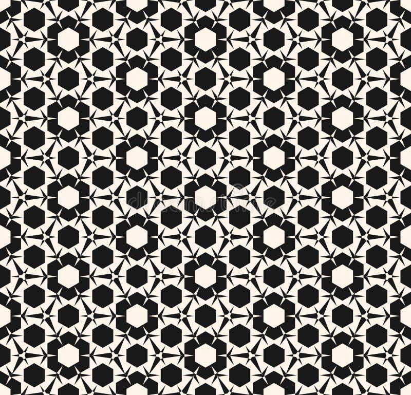 Ornamentacyjny geometryczny bezszwowy wzór z trójgraniastymi kształtami royalty ilustracja