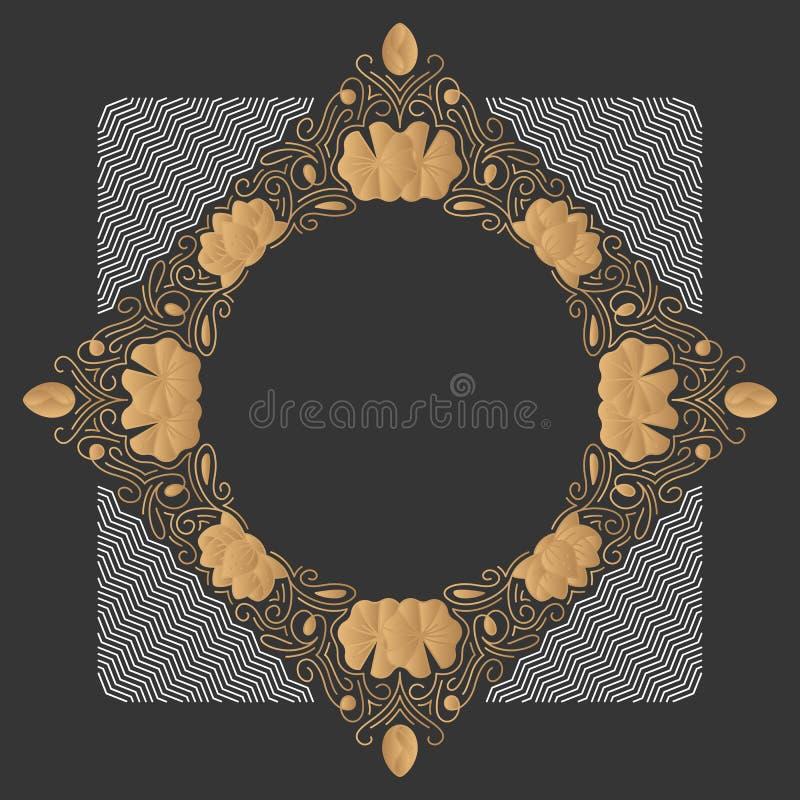 Ornamentacyjny kreskowy tło, monoline styl royalty ilustracja