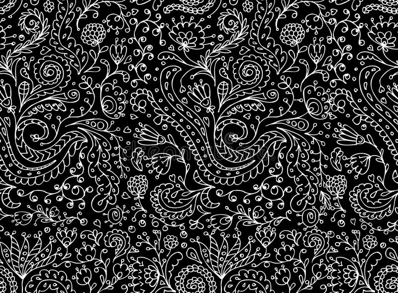Ornamentacyjny kwiecisty bezszwowy wzór dla twój projekta ilustracja wektor