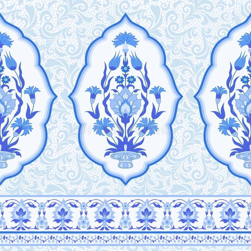 ornamentacyjny kwiecisty tła ilustracja wektor