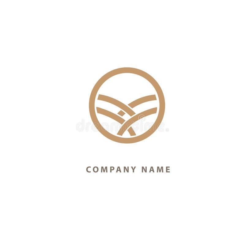 Ornamentacyjny logo Kwiat ślubna ikona Luksusowy retro emblemat Kosmetyki, zdrój, piękno salon, dekoracja, butika wektoru logo ilustracji