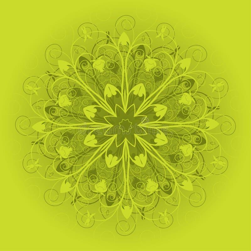 Ornamentacyjny projekt, wektor royalty ilustracja