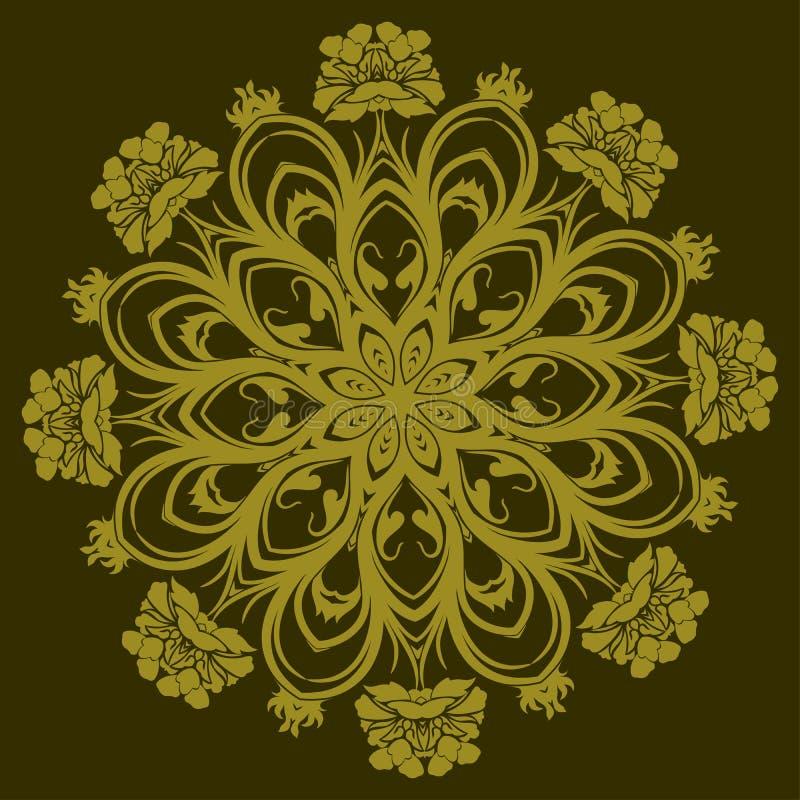 Ornamentacyjny projekt, wektor ilustracja wektor