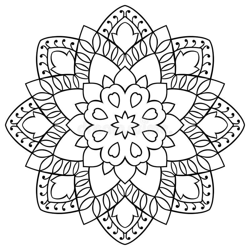 Ornamentacyjny prosty mandala royalty ilustracja