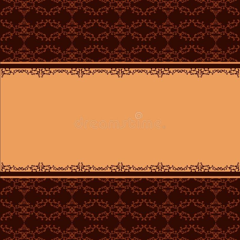 Ornamentacyjny tło z dekoracyjnym wzorem royalty ilustracja