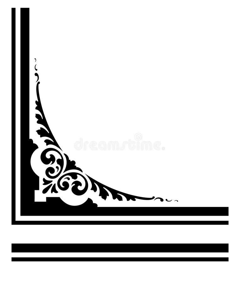 Ornamentado, projeto gráfico de canto do vetor ilustração stock