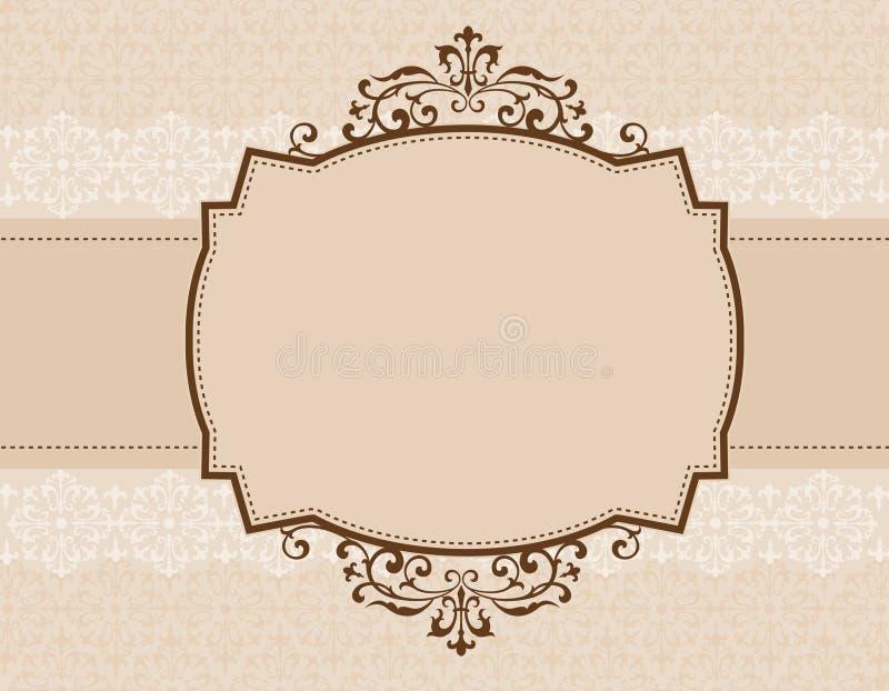 ornamental приглашения предпосылки иллюстрация вектора