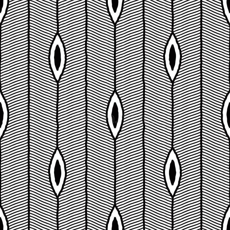 Ornamental шнурка звезды вектора безшовный черно-белый круглый бесплатная иллюстрация