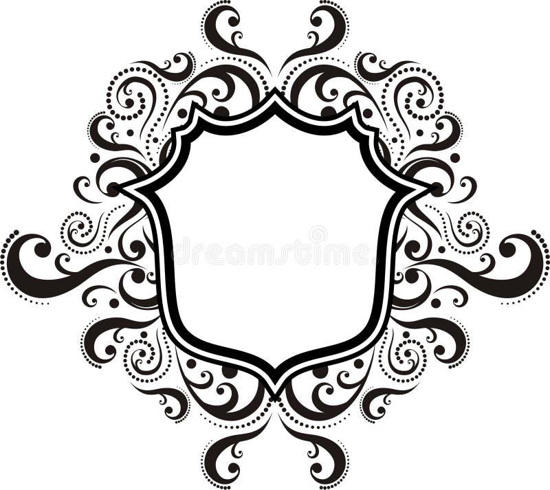 ornamental эмблемы штофа иллюстрация вектора