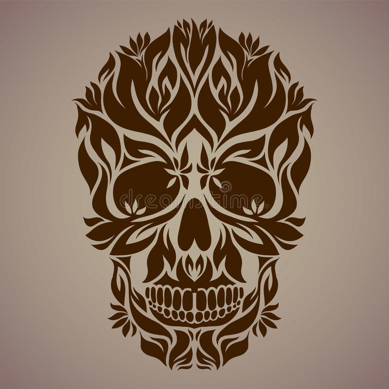 Ornamental art of a skull royalty free stock photography