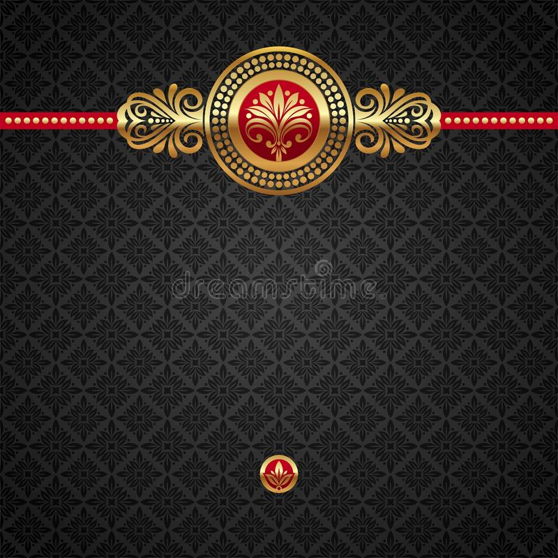 Download Ornamental Background With Golden Elements Stock Vector - Image: 19521800