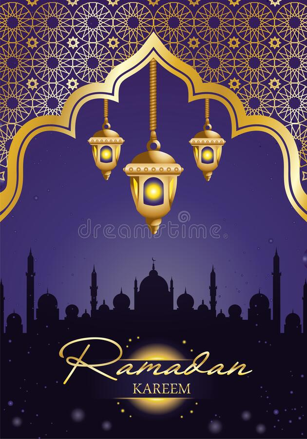 ornamental  background for muslim community holy month royalty free stock images