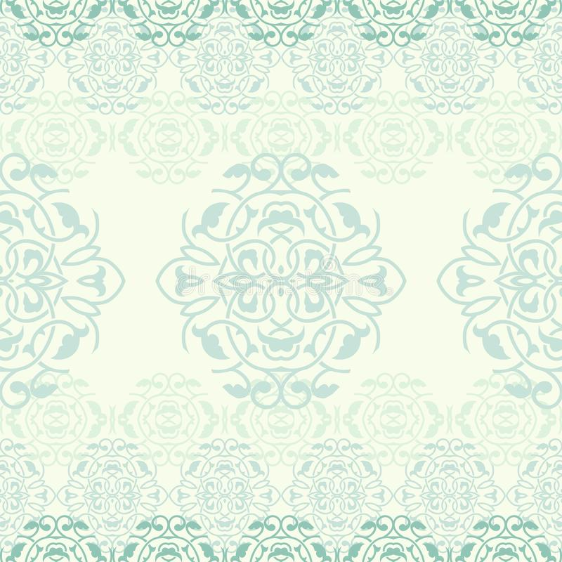 Ornamental background vector deamless pattern royalty free illustration