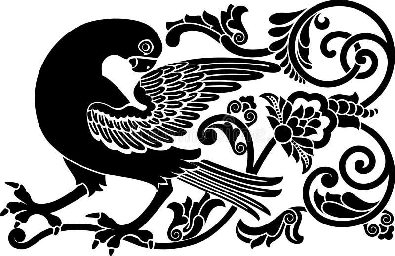 Download Ornamental bird stock vector. Image of grow, bloom, element - 20979088