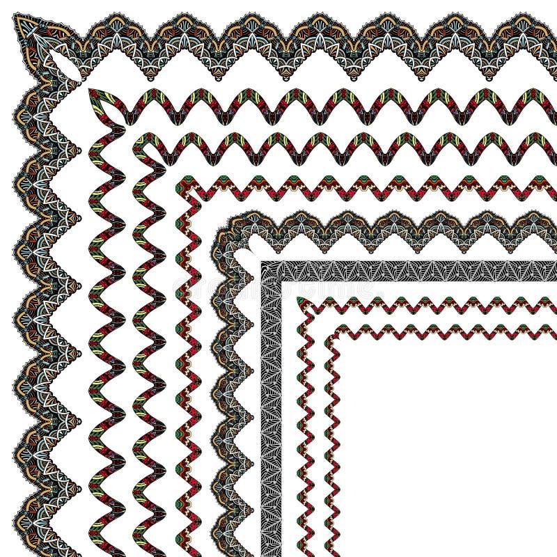 Ornamental border with corner vector illustration