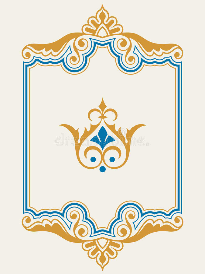 Ornamental border frame design element set