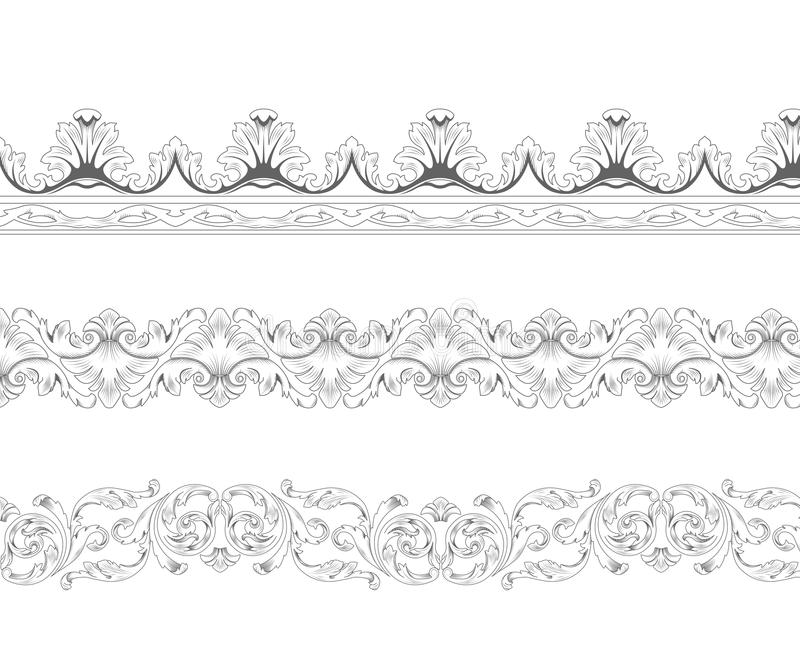 Download Ornamental borders stock vector. Image of drawing, classic - 18410554