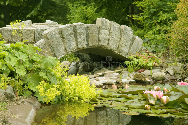 Ornamental Bridge and Pond royalty free stock image