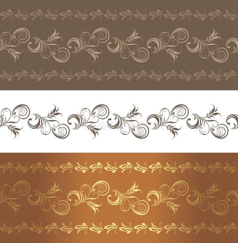 Download Ornamental brown borders stock vector. Illustration of decorative - 37492587