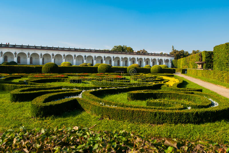 Ornamental Bushes In French Garden On Sunny Summer Day Stock Image ...