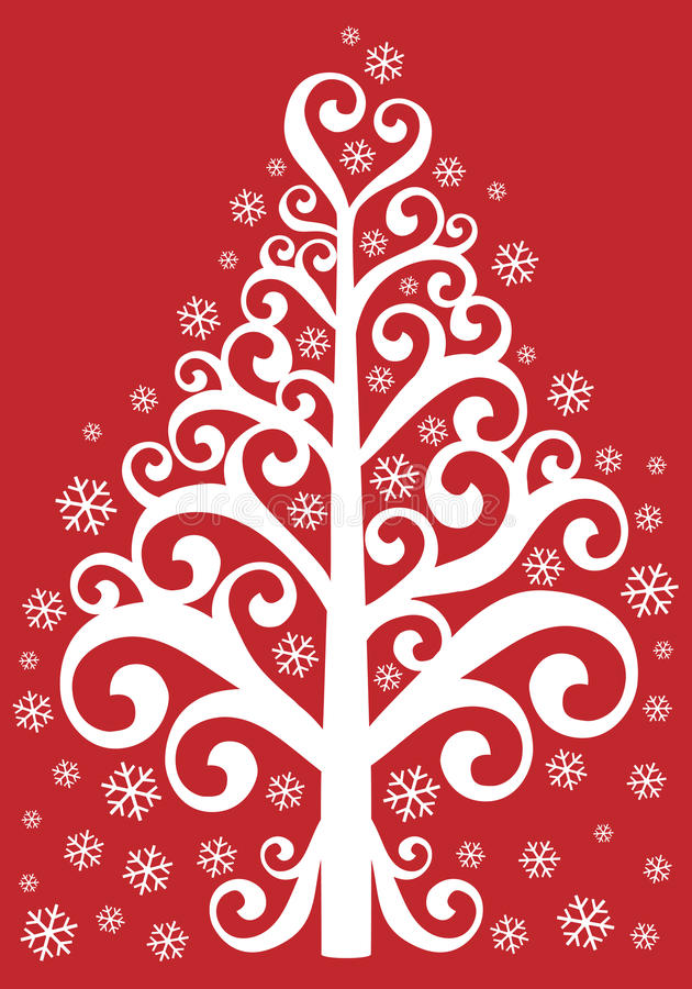 Download Ornamental christmas tree stock vector. Image of xmas - 16935891