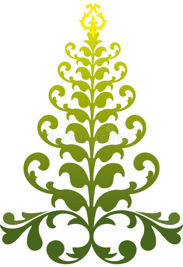 Download Ornamental christmas tree stock vector. Image of celebration - 6171935