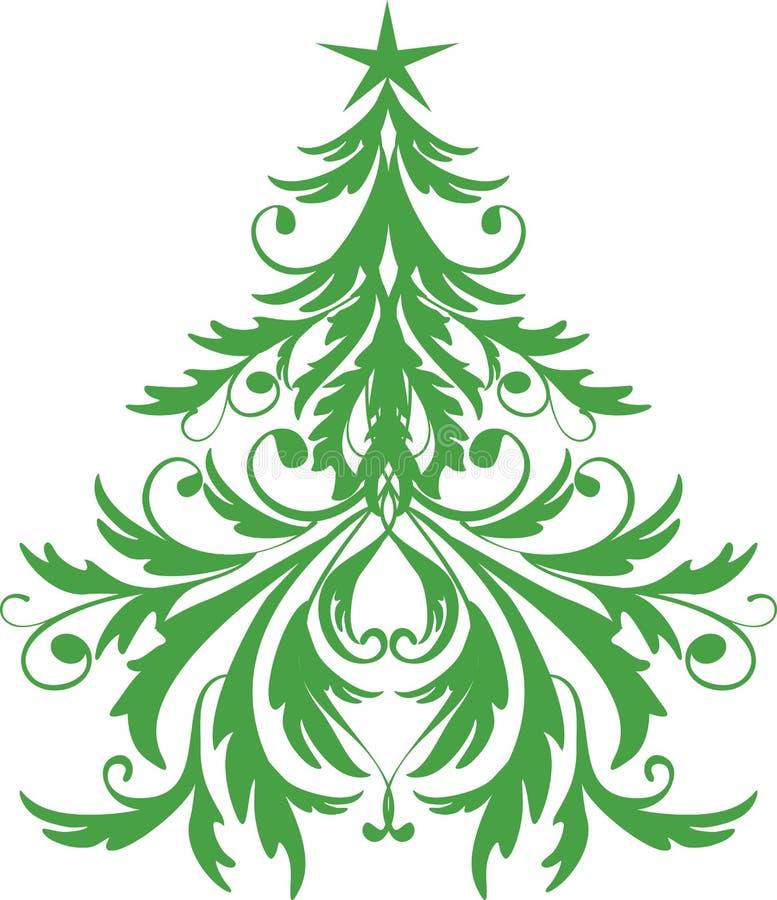 Ornamental christmas tree stock photo
