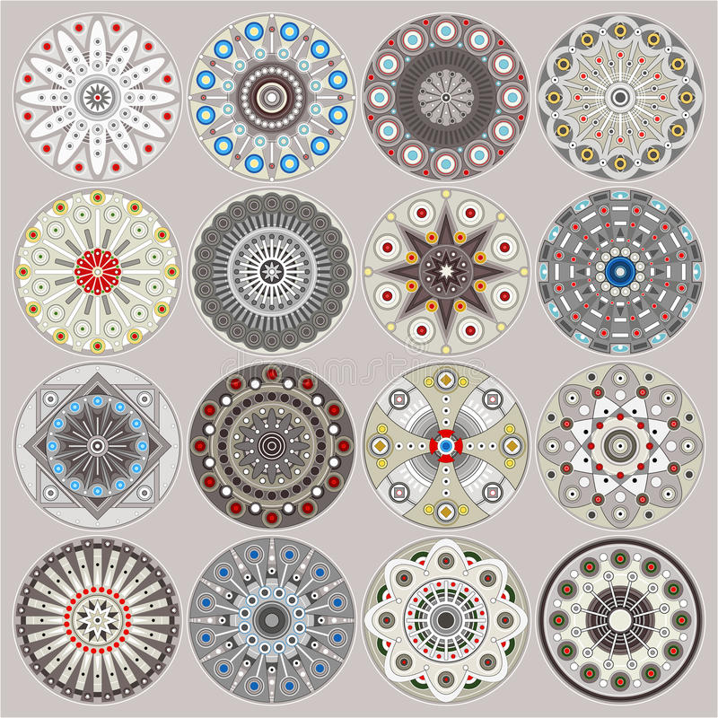 Ornamental circles decors royalty free stock images