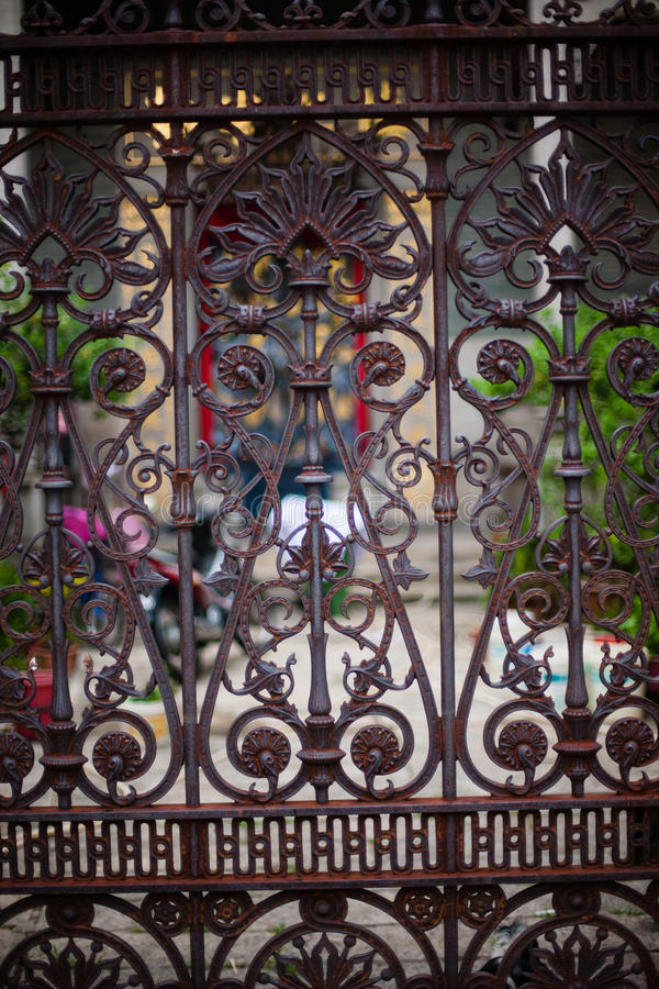 Ornamental classical forged gates. With curls, swirl, scroll stock photos
