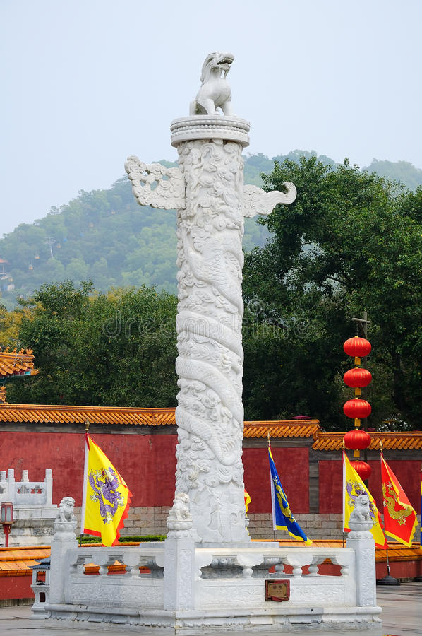 Ornamental column royalty free stock photo