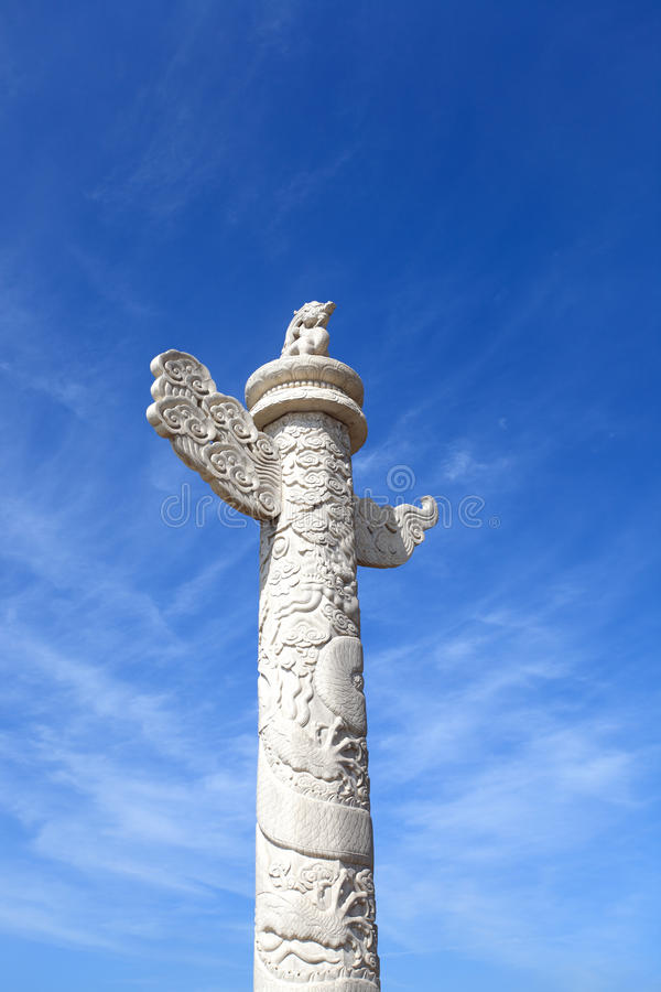 Ornamental Columns Against A Blue Sky Royalty Free Stock Photography