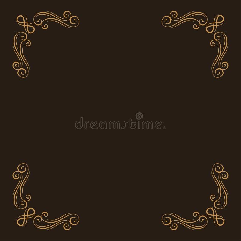 Ornamental corners. Filigree decorative page dividers. Calligraphic design element. Vector. stock illustration