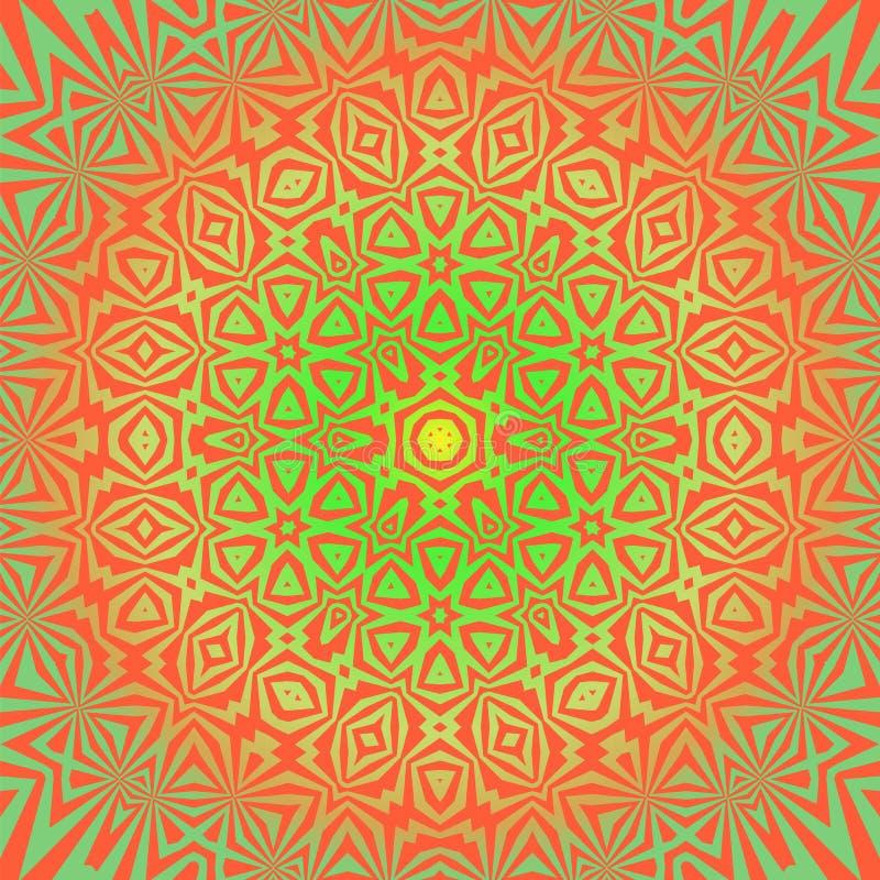 Ornamental criativo teste padrão colorido ilustração stock