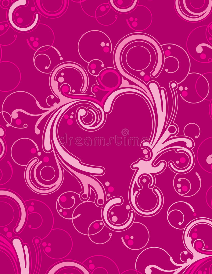 Ornamental de coeur illustration stock