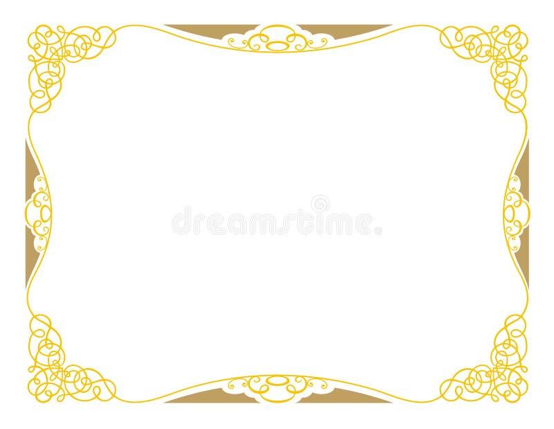 ornamental de conception du certificat a3 illustration de vecteur