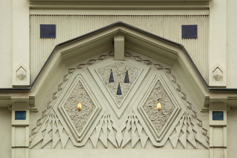 Ornamental Decoration On The Art Nouveau Building In Prague. Stock ...