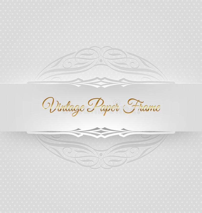 Ornamental decorative paper frame royalty free illustration