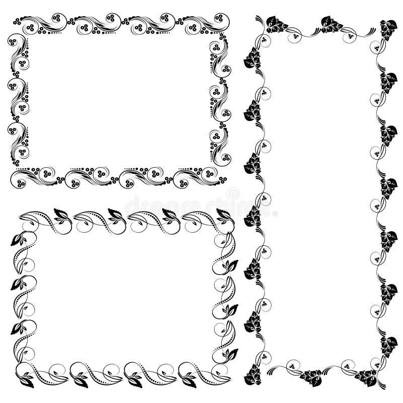 Download Ornamental design elements stock vector. Image of hohloma - 83765746