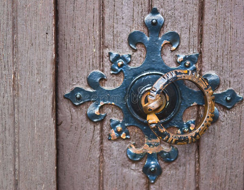 Ornamental door handle ring royalty free stock images