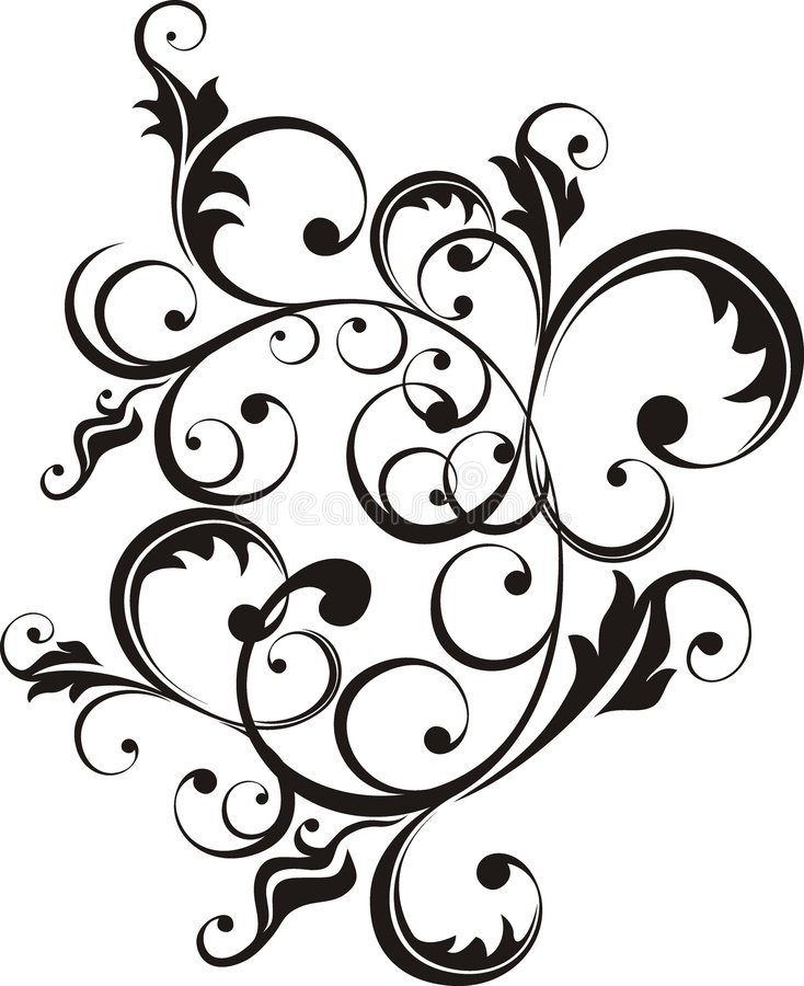 Ornamental elements. Design elements in vector format very easy to edit royalty free illustration