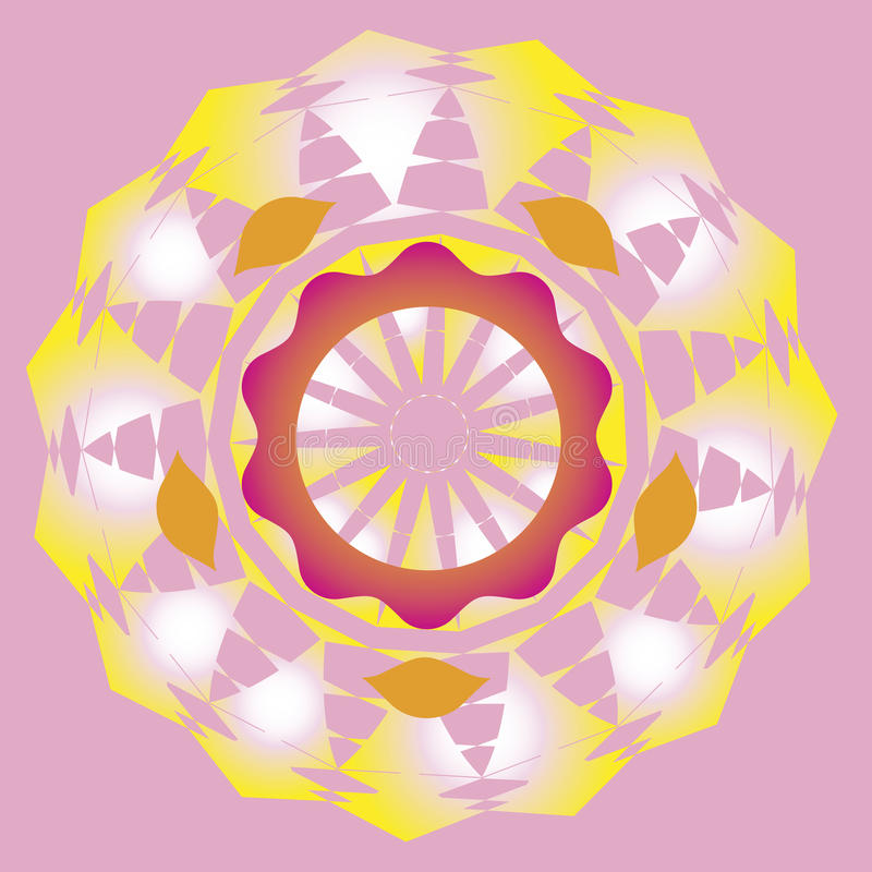 Ornamental sun spring mandala royalty free stock images