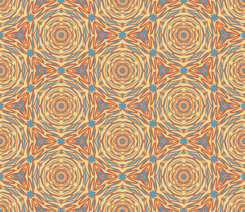 Ornamental ethnic seamless pattern stock illustration
