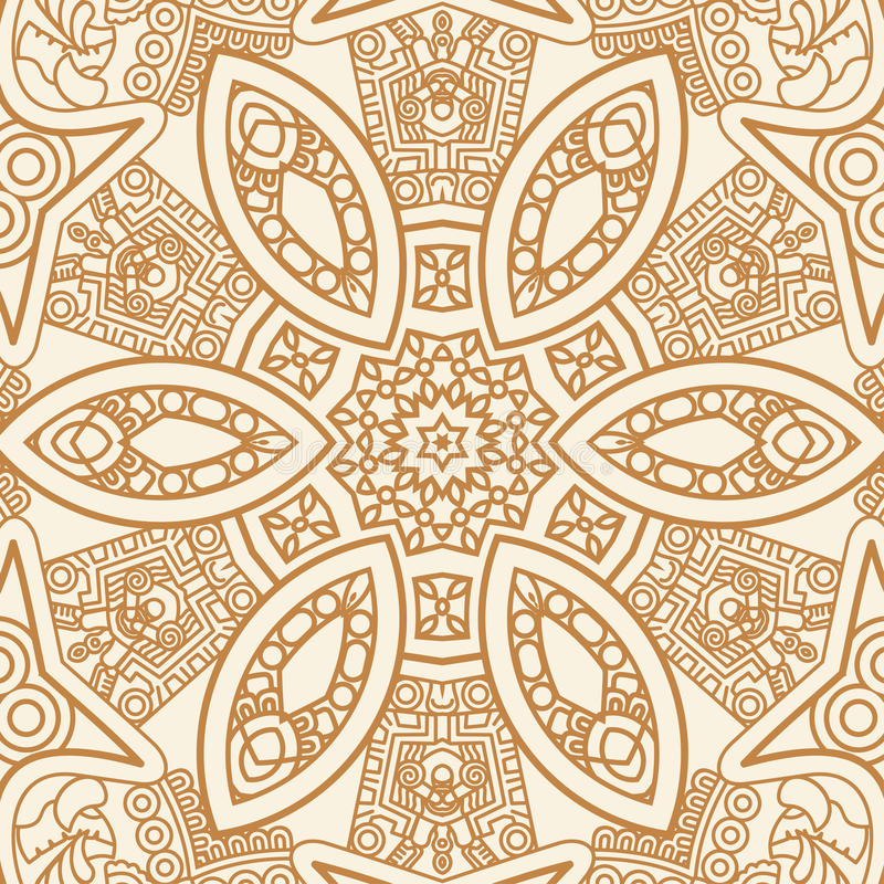 Ornamental ethnicity pattern. Colorful ethnicity square ornament, mosaic vector stained glass vector illustration