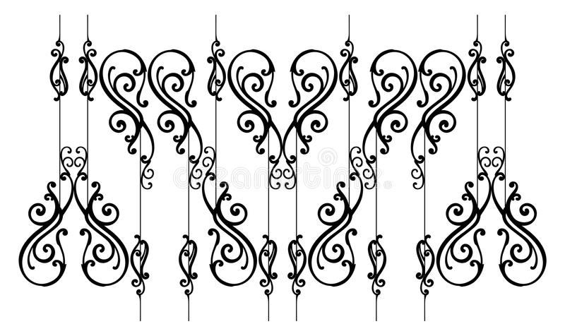 Download Ornamental-fence stock vector. Image of clipart, branch - 20265386
