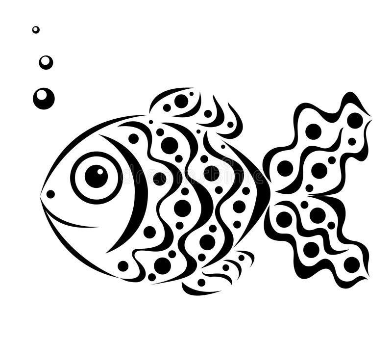 Download Ornamental fish stock vector. Image of part, black, animal - 25558133