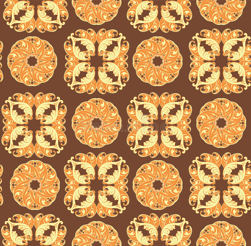 Ornamental floral background. Seamless pattern for your design w royalty free illustration
