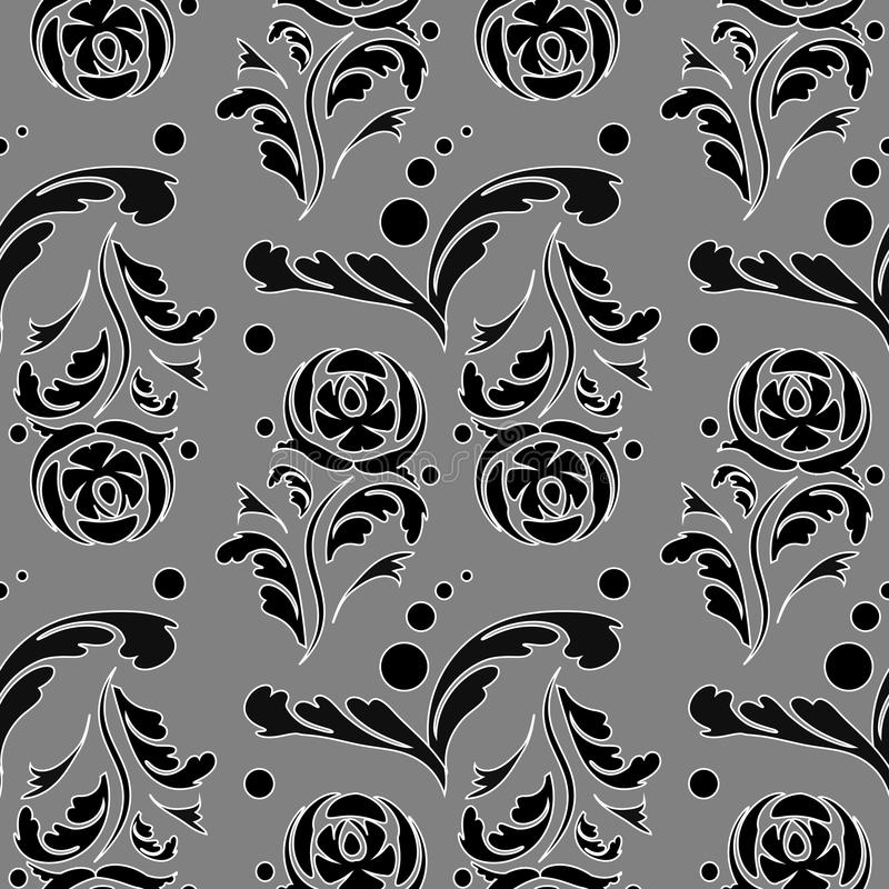 Ornamental floral background. Seamless pattern for your design wallpapers, pattern fills, web page backgrounds, surface textures. vector illustration