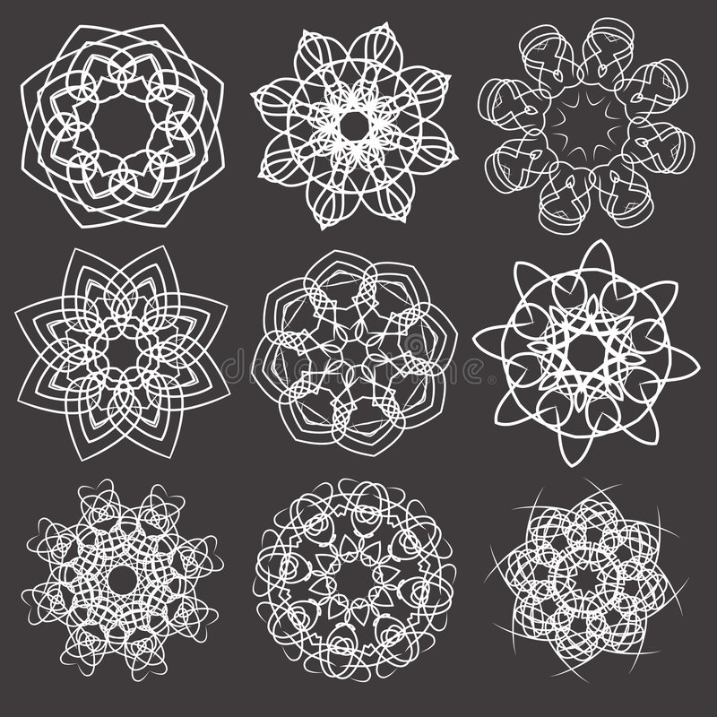 Download Ornamental Floral D'éléments Illustration de Vecteur - Illustration du filigree, fleur: 8671508