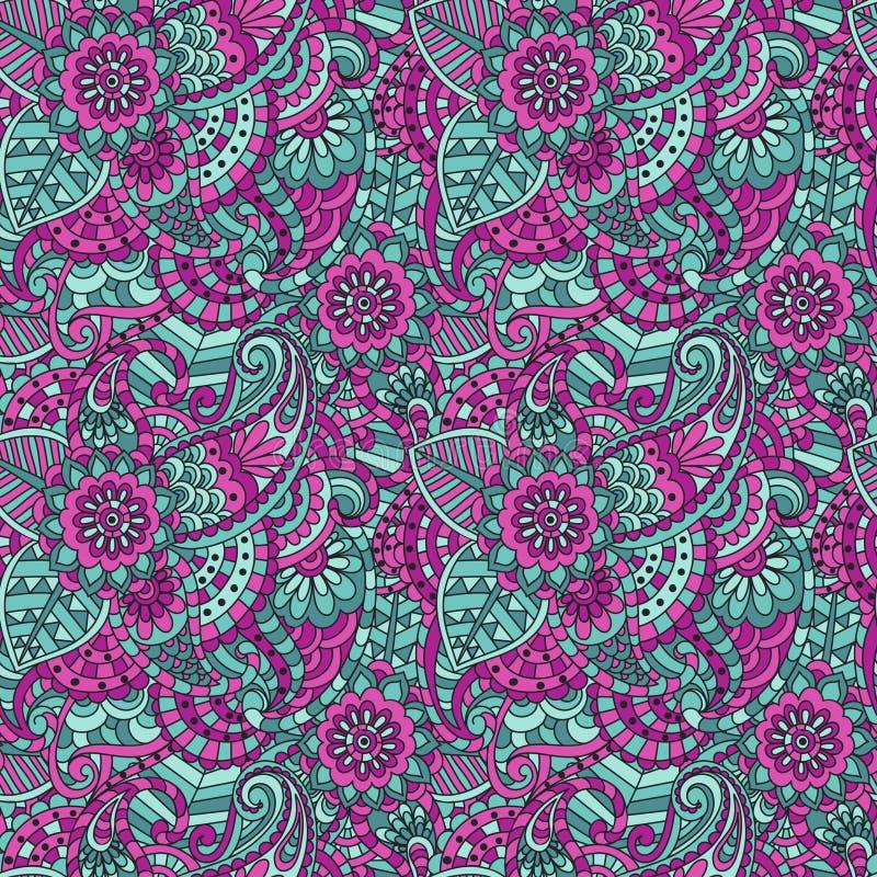 Ornamental floral decorativo stock de ilustración