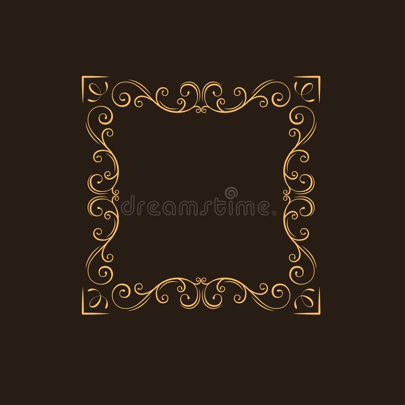 Ornamental floral frame. Swirls, decorative border. Flourish page decoration. Vintage style. Ornate divider. Vector. vector illustration